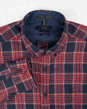 پیراهن پشمی مردانه VK9911- قرمز (3)