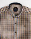 پیراهن چهارخانه مردانه 4026- بادامی (3)