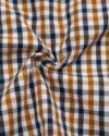 پیراهن چهارخانه مردانه 4026- بادامی (4)
