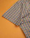 پیراهن چهارخانه مردانه 4026- بادامی (7)