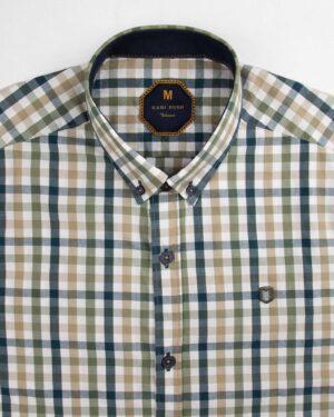 پیراهن چهارخانه مردانه 4026- سرمه ای (3)