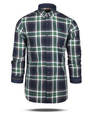 پیراهن چهارخانه مردانه 4415- سبز (1)