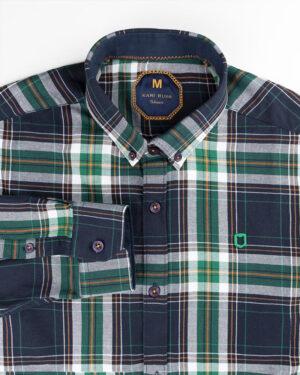 پیراهن چهارخانه مردانه 4415- سبز (3)