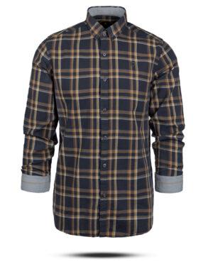 پیراهن چهارخانه مردانه 4416- دودی (3)