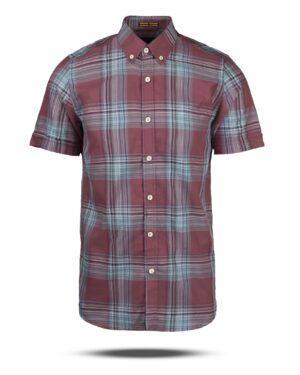 پیراهن چهارخانه مردانه VK9922- جگری (1)
