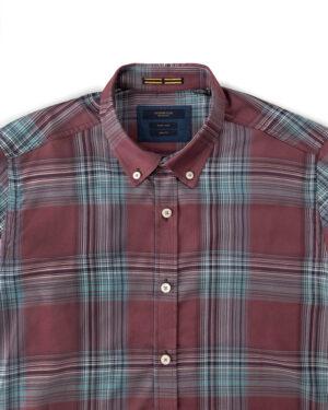 پیراهن چهارخانه مردانه VK9922- جگری (3)