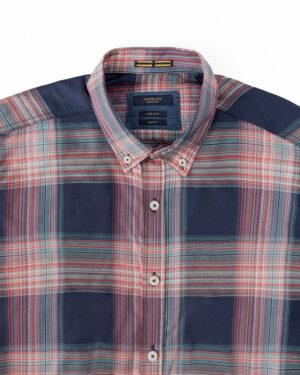 پیراهن چهارخانه مردانه VK9922- سرمه ای تیره (3)