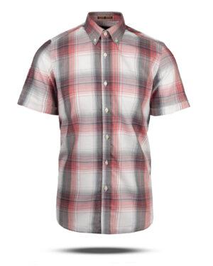 پیراهن چهارخانه مردانه VK9922- سفید (1)