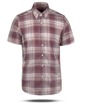 پیراهن چهارخانه مردانه VK9922- کالباسی تیره (1)