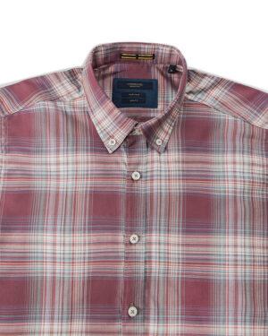 پیراهن چهارخانه مردانه VK9922- کالباسی تیره (3)