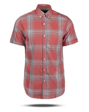 پیراهن چهارخانه مردانه VK9922- گلبهی (1)